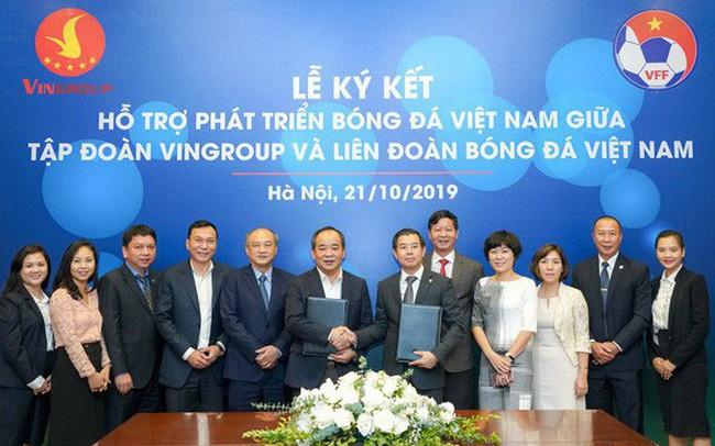 Vingroup bắt tay VFF, hỗ trợ phát triển bóng đá Việt Nam - ảnh 1