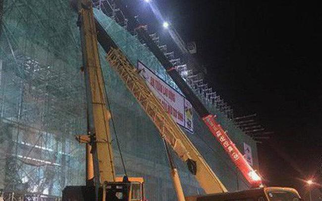 Hải Dương: Sập giàn giáo trong đêm tại công trình vài trăm tỉ, nhiều người bị thương