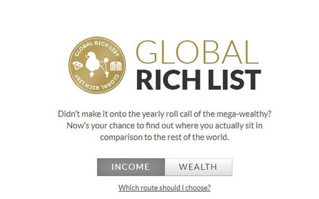 Chỉ một cú click để biết mình giàu thứ mấy trên thế giới, bạn sẽ bất ngờ về kết quả!