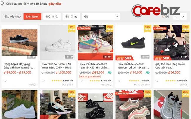 """Nhập giày Nike """"fake"""" từ Trung Quốc về bán online số lượng lớn tại Việt Nam, chỉ sở hữu 1 kho hàng nhưng mở la liệt 20 gian hàng trên sàn TMĐT để """"đè bẹp"""" đối thủ!"""