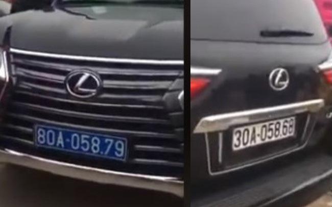 """Xác minh thông tin """"xế sang"""" Lexus đầu đeo biển xanh 80A, đuôi đeo biển trắng 30A"""