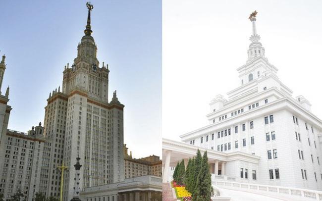 Đại học tinh hoa VinUni: Vẻ đẹp sánh ngang với ngôi trường Lomonosov của Nga, cùng sử dụng kiến trúc Gothic và đặt biểu tượng trên đỉnh tháp