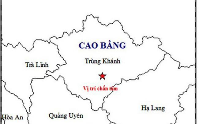 Cao Bằng: Xảy ra trận động đất cường độ 2,8 tại huyện Trùng Khánh