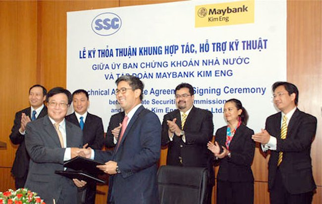 UBCKNN ký thỏa thuận khung hợp tác, hỗ trợ kỹ thuật với Tập đoàn Maybank Kim Eng