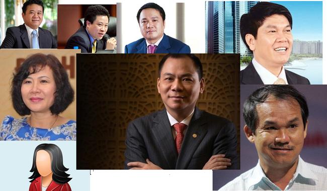 10 đại gia giàu nhất sàn chứng khoán năm 2013