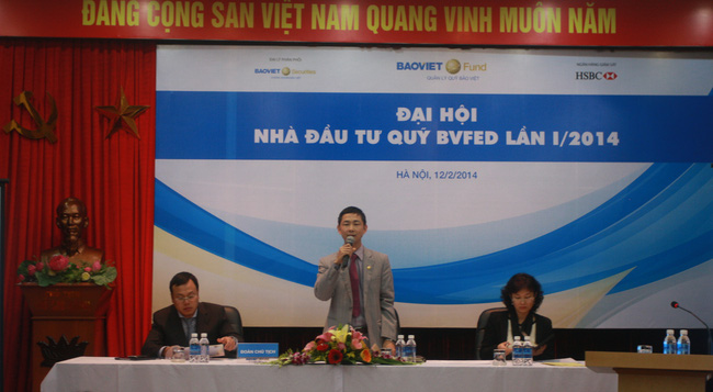Quỹ mở BVFED: Năm 2014 tập trung đầu tư cổ phiếu trong rổ VN30