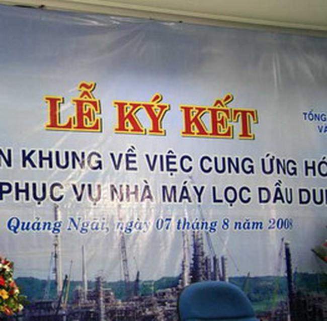 PVC: cung ứng hóa phẩm cho nhà máy dầu Dung Quất