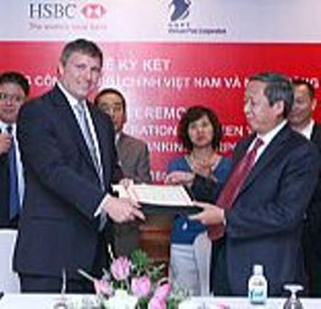 HSBC hợp tác với T.Cty Bưu chính (VNPOST)