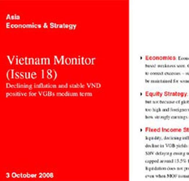 HSBC dự báo VN-Index sẽ đạt 450 điểm vào cuối năm 2008