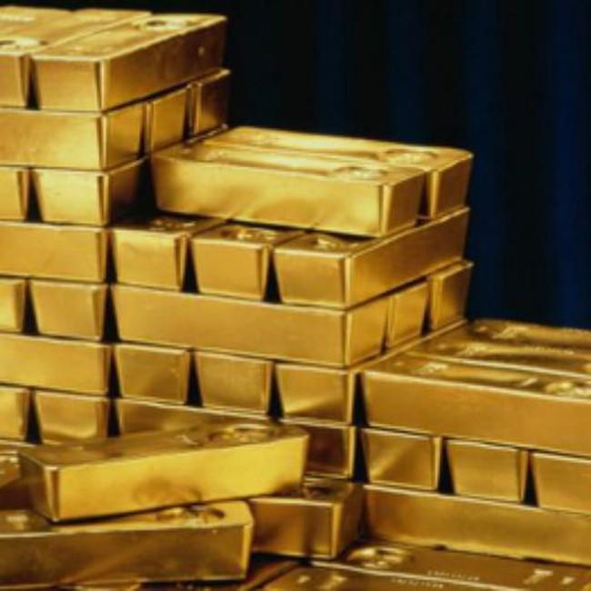 Giá vàng giảm mạnh vào cuối giờ chiều