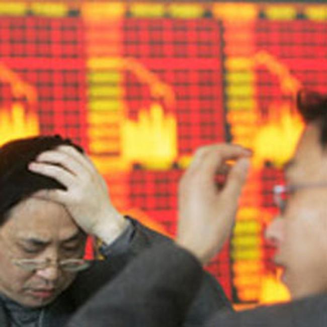 Chứng khoán châu Á đang giảm mạnh