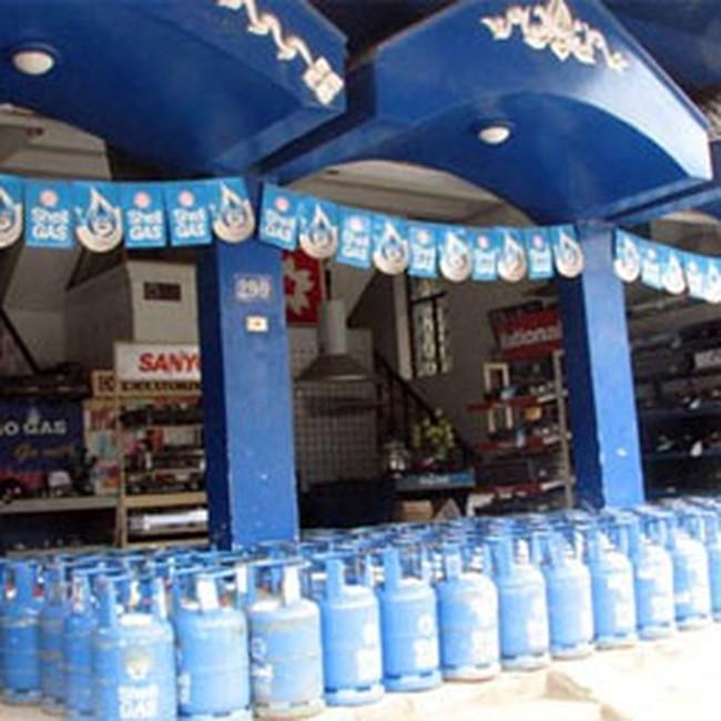 Giá gas đồng loạt giảm 10.000 đồng bình 12 kg