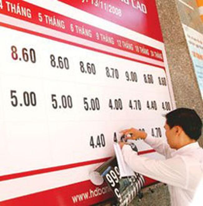 Lãi suất giảm làm khó ngân hàng