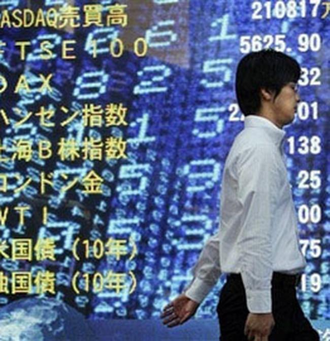 Chứng khoán châu Á tăng điểm nhờ Ngân hàng Nhật Bản