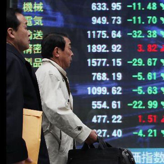 """TTCK Nhật mất điểm trong phiên giao dịch """"một mình"""""""