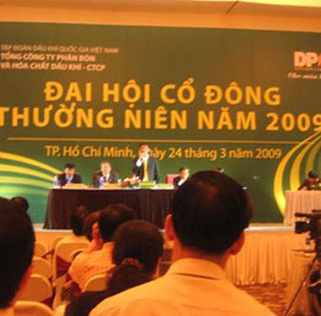 DPM: Trả cổ tức đợt cuối cùng năm 2008 tỷ lệ 5%