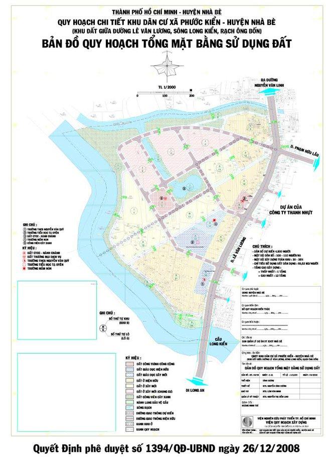 Quy hoạch chi tiết xây dựng đô thị Khu dân cư Phước Kiển