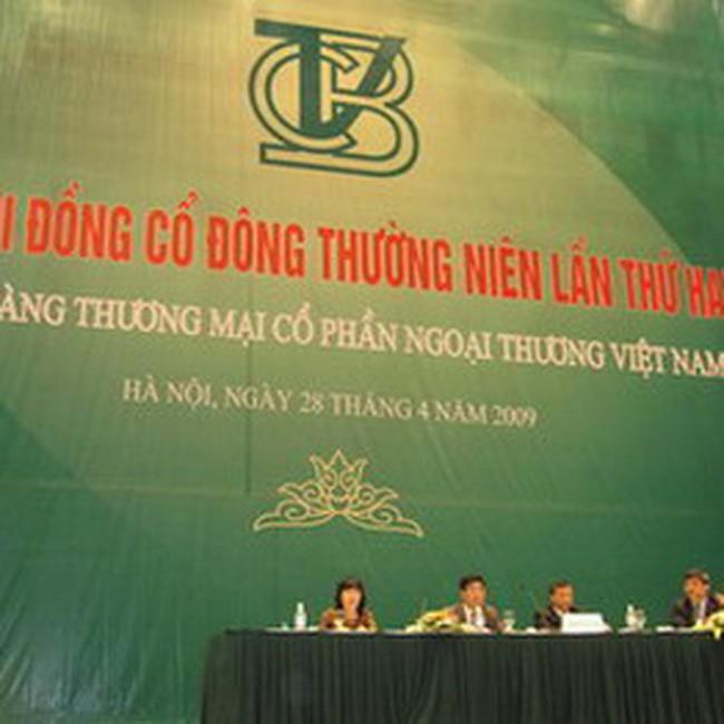 VCB: Đạt 1300 tỷ đồng lợi nhuận trước thuế quý I