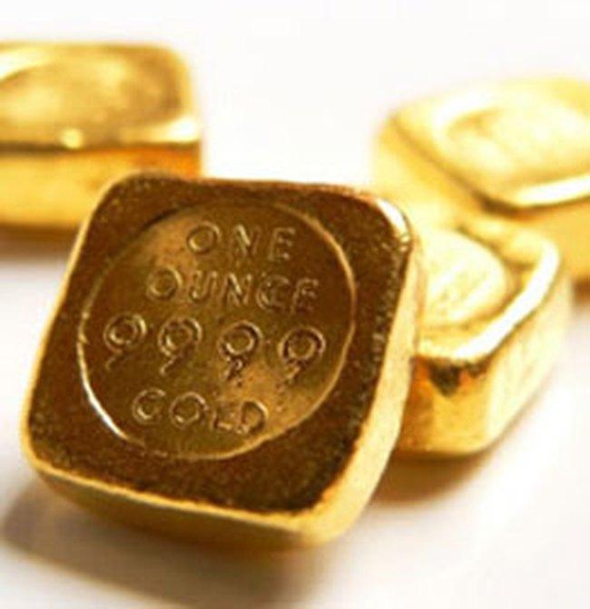 Giá vàng giảm trở lại