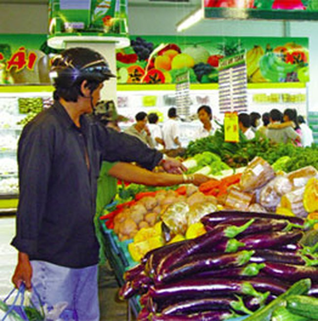 Giá hàng hóa ở siêu thị có thể tăng nhẹ