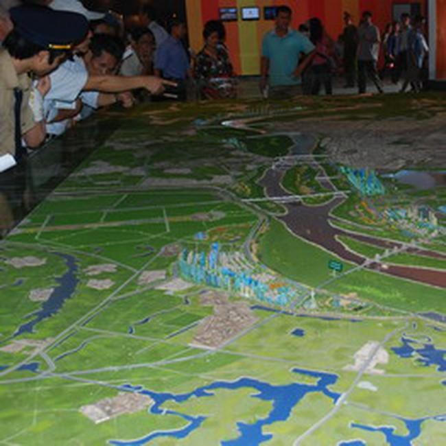 Toàn cảnh dự án thành phố ven sông Hồng