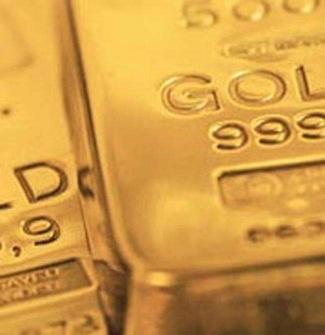 Giá vàng lại hạ xuống thấp nhất trong 2 tuần
