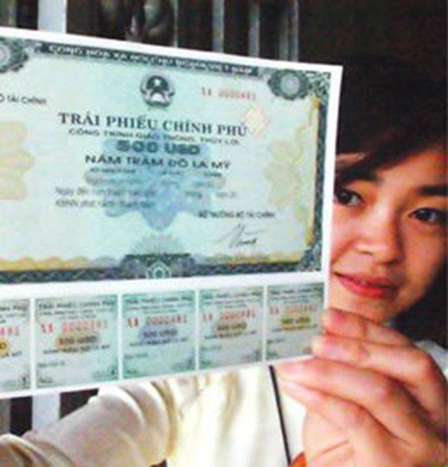 Trái phiếu Chính phủ bằng ngoại tệ được cầm cố để vay vốn bằng đồng Việt Nam
