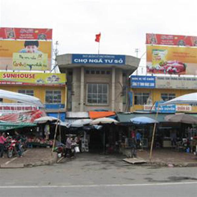 Chợ Ngã Tư Sở thành trung tâm thương mại