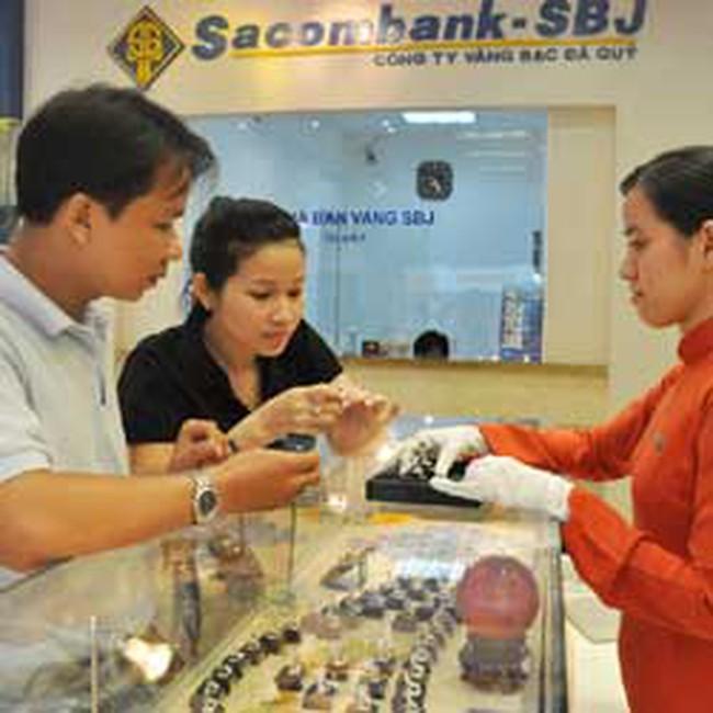 Sacombank-SBJ giảm giá kim cương ép vỉ và trang sức vỏ kim cương