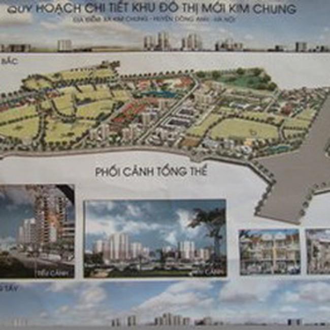 Hà Nội: Quy hoạch chi tiết khu đô thị mới Kim Chung