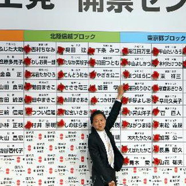 Đảng Dân chủ Nhật chiến thắng vang dội