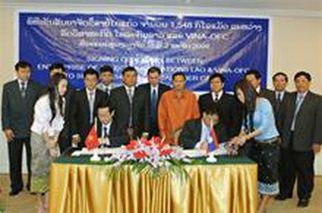 Thành viên VNPT ký hợp đồng cấp cáp quang sang Lào trị giá 1,5 triệu USD
