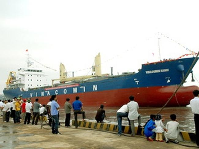 Hạ thủy tàu Vinacomin-Hanoi trọng tải 7.000 tấn