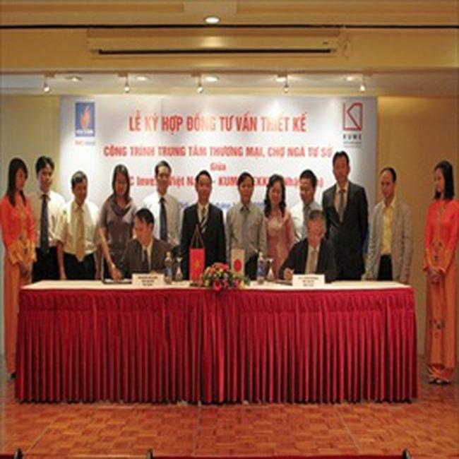 PVFC Invest ký hợp đồng tư vấn thiết kế Trung tâm thương mại - Chợ Ngã Tư Sở