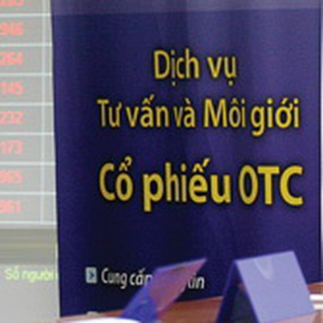 OTC: Gần đứt thanh khoản