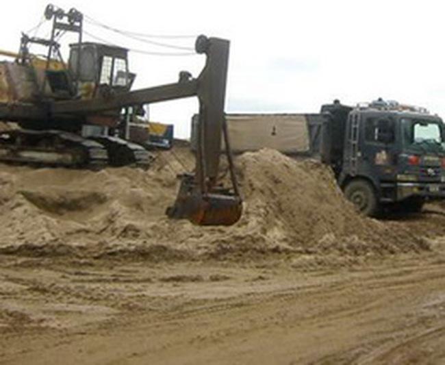 Từ tháng 6/2010 sẽ dừng toàn bộ việc xuất khẩu cát nhiễm mặn