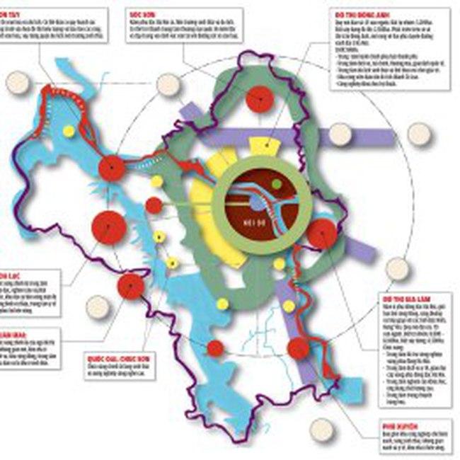 Quy hoạch Hà Nội: đô thị mở rộng như thế nào?
