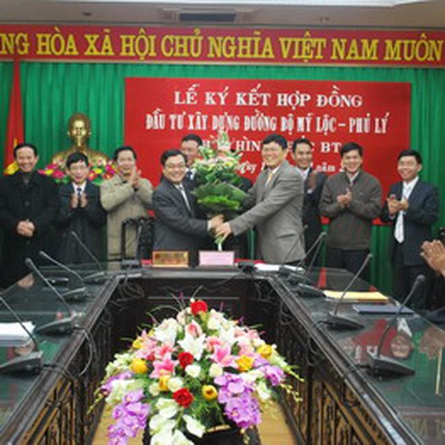 HUT: Ký Hợp đồng đầu tư xây đường Phủ Lý – Mỹ Lộc 2.168 tỷ đồng