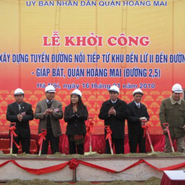 Gần 618 tỷ đồng xây dựng đường từ Đền Lừ II đến Trương Định - Giáp Bát