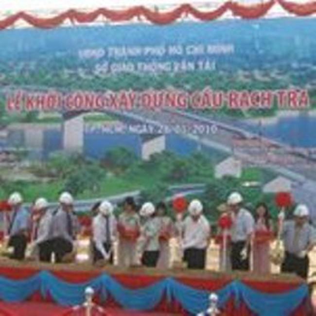 TPHCM: Khởi công xây cầu Rạch Tra mới