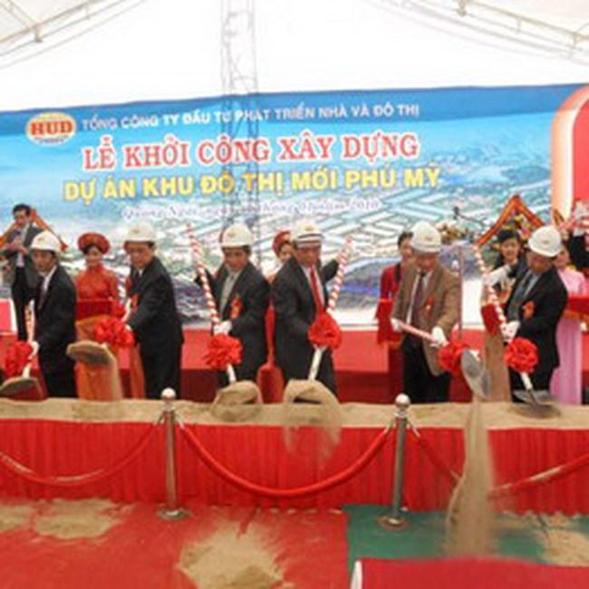 HUD khởi công khu đô thị Phú Mỹ 1.250 tỷ đồng tại Quảng Ngãi