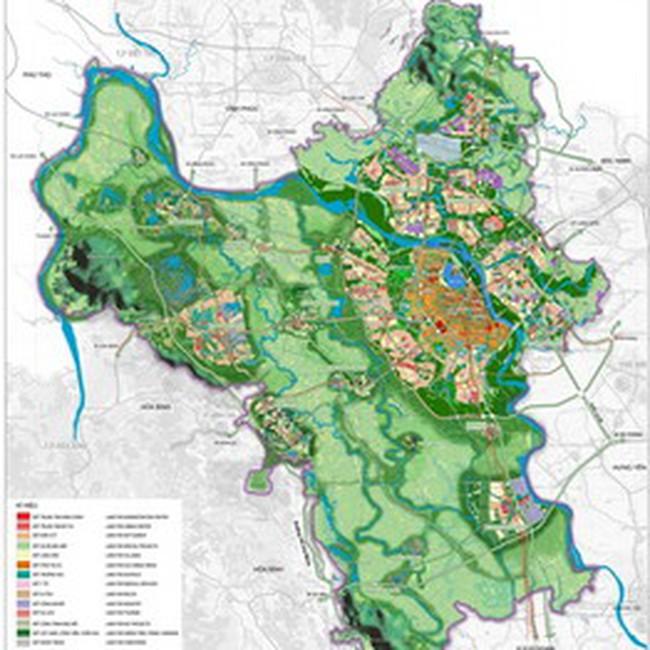 Quy hoạch chung Hà Nội: Phát triển theo hướng đô thị hạt nhân và 5 đô thị vệ tinh