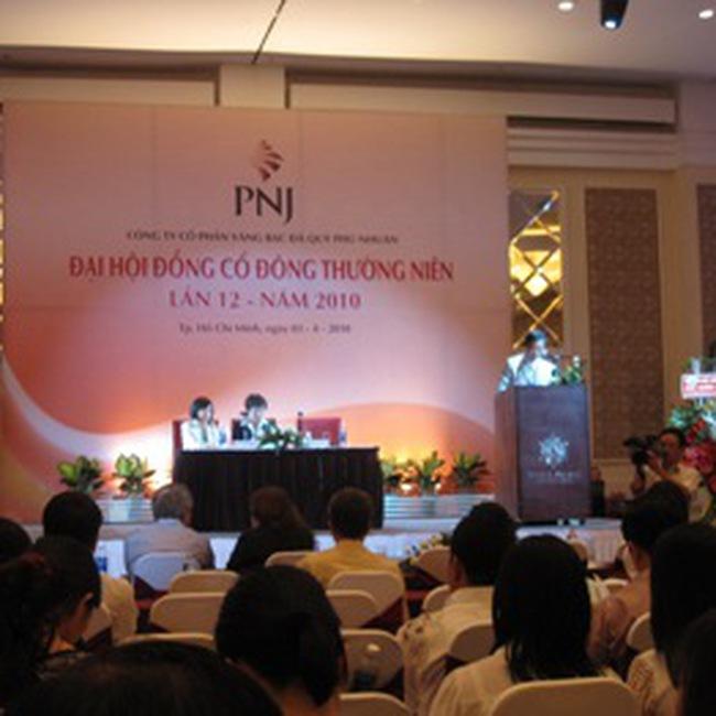PNJ: Sẽ thực hiện chia thưởng CP tỷ lệ 2:1 và phát hành trái phiếu chuyển đổi