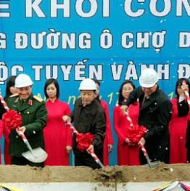 Khởi công xây dựng đoạn đường Ô Chợ Dừa - Hoàng Cầu
