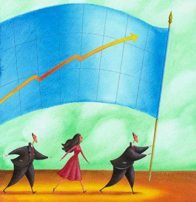 Nhóm cổ phiếu chứng khoán khởi sắc, hai sàn cùng tăng điểm