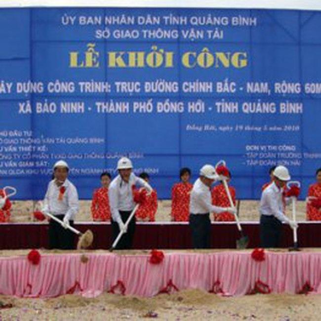 Khởi công tuyến đường lớn nhất tỉnh Quảng Bình