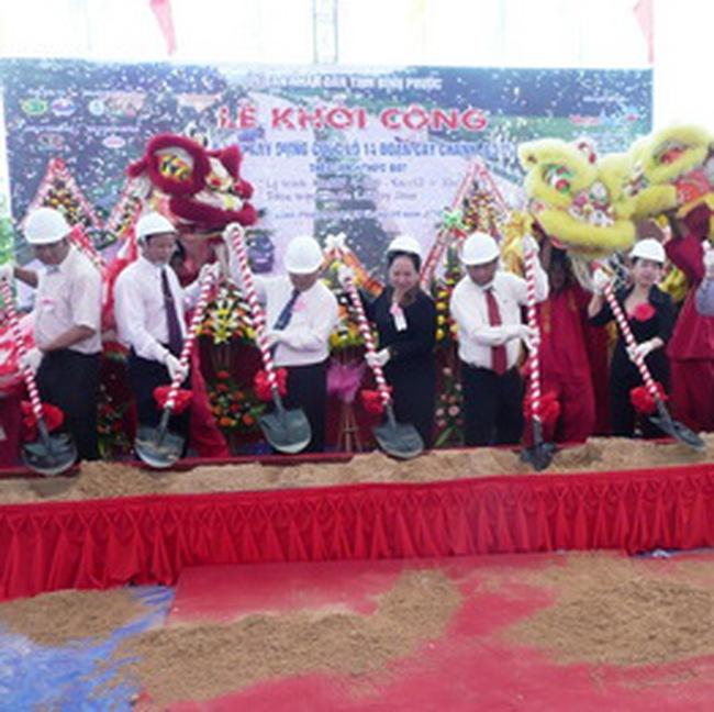 DLGL khởi công dự án nâng cấp mở rộng quốc lộ 14 đoạn Cây Chanh – Đồng Xoài