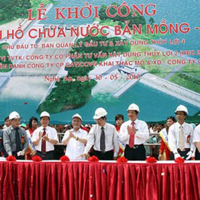 MCV: Khởi công dự án Hồ chứa nước Bản Mồng