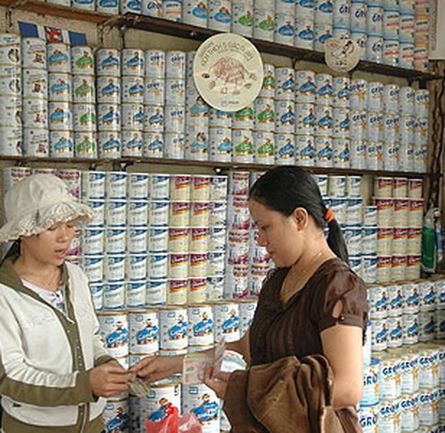 85% giá trị thị phần sữa bột thuộc về các hãng sữa ngoại