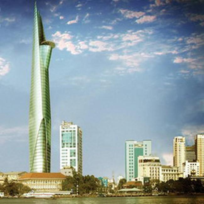 TP.HCM: Cất nóc tòa nhà Bitexco Financial Tower cao 68 tầng